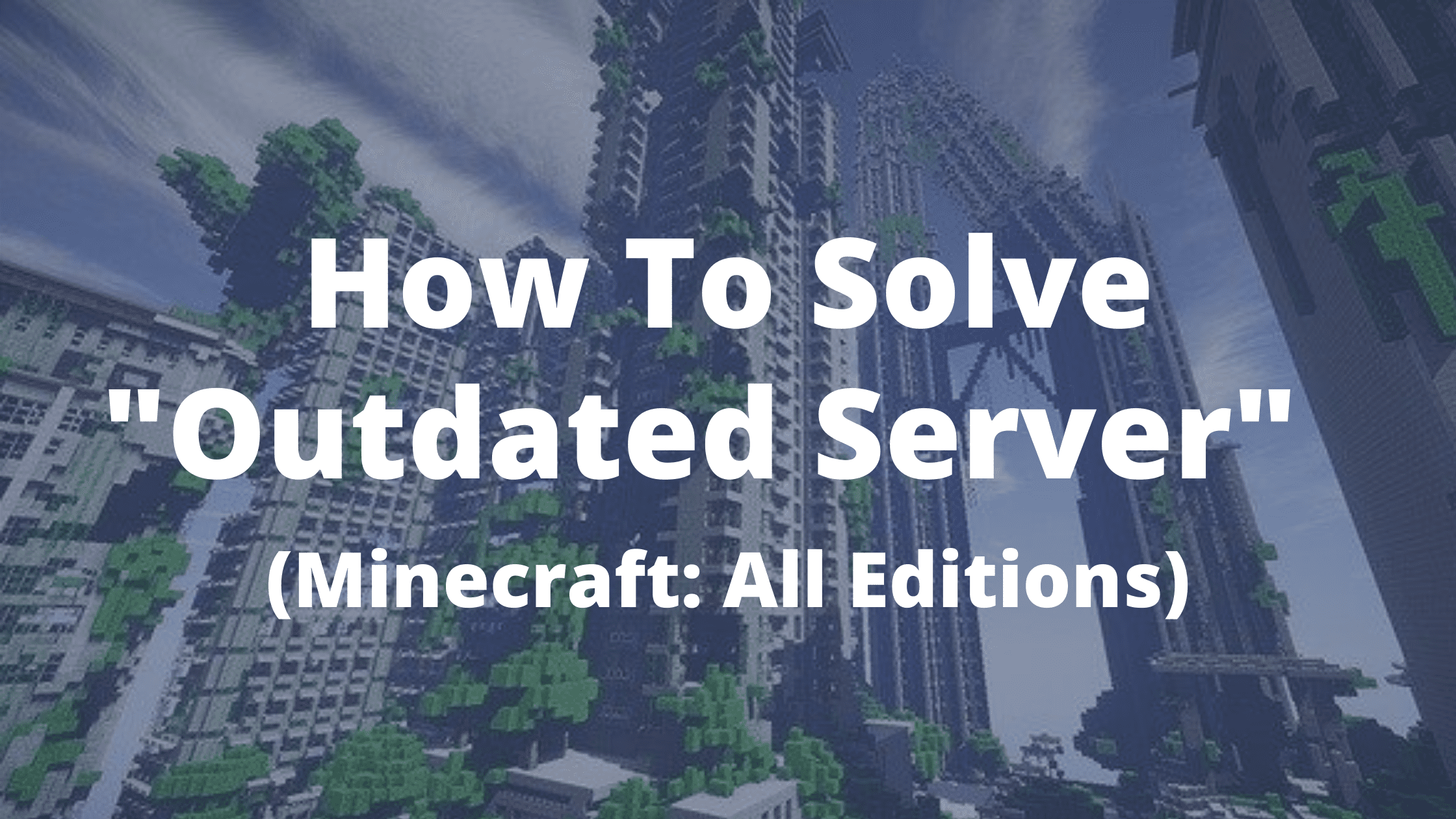 Minecraft Outdated Server