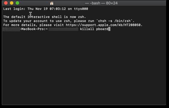 copy paste not working mac