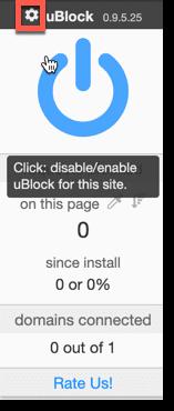 ublock options