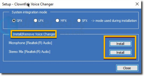 fix clownfish voice changer not working