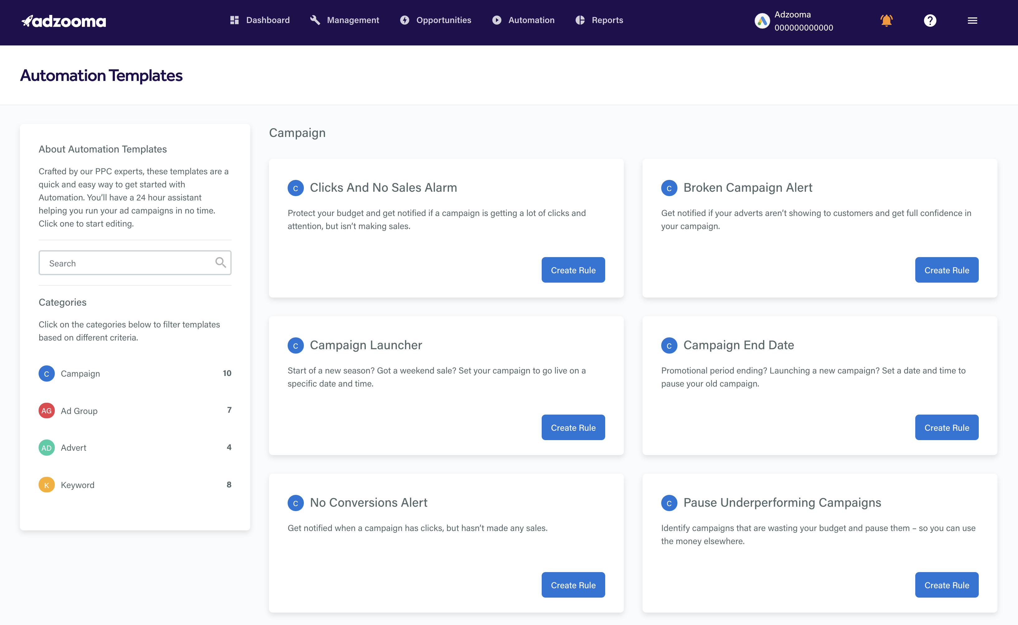 adzooma ppc management platform